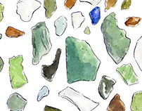 Sea glass collected on Nevis
