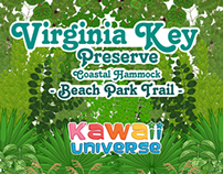 Official Virginia Key Beach, FL Trail Signs Design