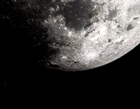 Realistic 3D render of Moon