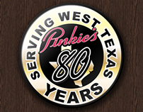 Pinkie's - Serving West Texas 80 years Button