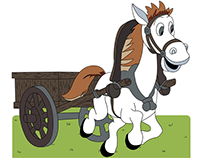 Horse cart | Vector illustration