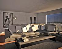 Modelação 3D - Sala de Estar