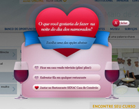 Online digital campaign for Valentine's Day Senac