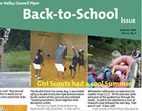 biannual Girl Scout newsletter