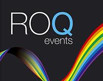 ROQ events logo design