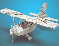 :: Paper light plane ::