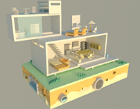 Low poly Modern House