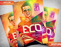 Electro Dance Music Flyer Template PSD