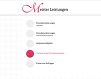 """website // """"Meister Leistungen"""""""