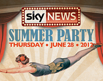 Sky News Summer Party Poster 2012