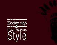 Zodiac signs in Native American style