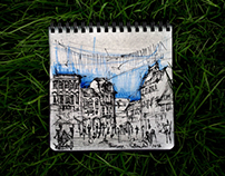Travelling sketchbook
