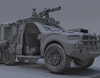 Post-Apocalyptic Military Truck