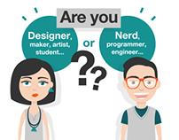 DESIGNER VS NERD / Characters