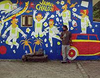Parsi Astronauts Mural, Udvada
