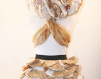 Re-imagined Coffee Filter Skirt & Headdress