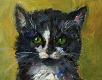 Animal Portraits, oil
