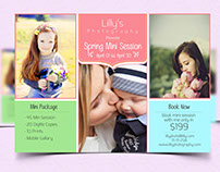 Photography Spring Mini Session Template