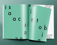 Isaac Tobin Typography Magazine