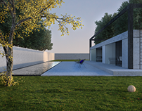 There is minimalism in the project of the private house