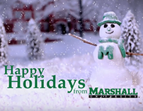 Animated Snowman Holiday Card