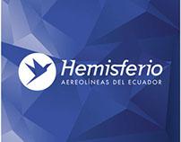 Manual de marca logo Hemisferio, Aerolíneas del Ecuador