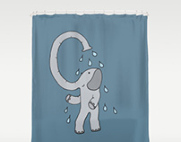 Elephant shower curtain