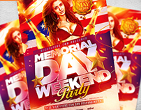 Memorial Day Flyer Template PSD
