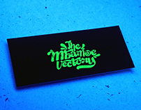 We Live After Midnight \ Glow in The Dark Business Card