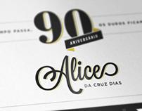 90th Birthday Invitation   2014