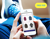 Online Store  Design Concept  for De Purple - Free PSD