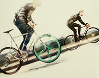 Fixed gear race poster