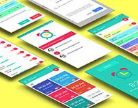 Lollipop Material Design Android 5.0 alarm clock app