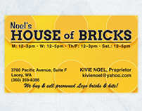 BUSINESS CARD DESIGN: Noel's House of Bricks