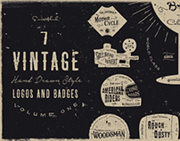 Vintage Hand Drawn Style Logos And Badges Vol 1