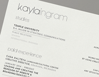 Kayla Ingram CV
