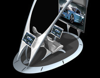 Auto Showroom Custom Car Kiosk