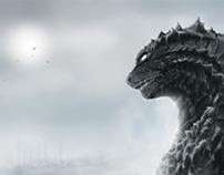 """The Calm"" Godzilla 2014 Poster Submission"