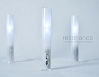 resonance, an interactive light installation
