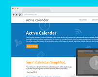 Active Calendar Website Design