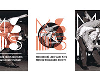 moscow swing dance society 10th anniversary logo sketch