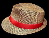 Chapéu Panamá - Ilustração 3D