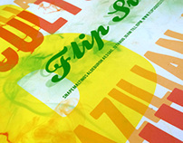 Typographic poster for Flipside, a Brazilian art & cult