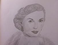 Lana Turner drawing