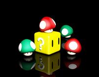Mario Mushrooms - 3D