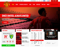 Manchester United Website Re-Design
