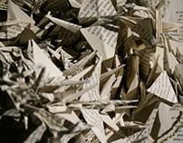 Paper Crane Altered Book