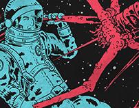 "MAN OR ASTRO-MAN? ""Astronaut vs. Virus Shirt"""