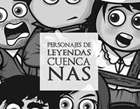 ILUSTRACION DE PERSONAJES DE LEYENDAS CUENCANAS
