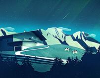Alpine Hut | Digital Art